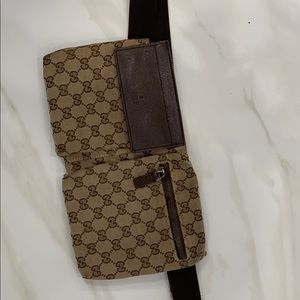 Gucci waist pouch, brown multi, one size